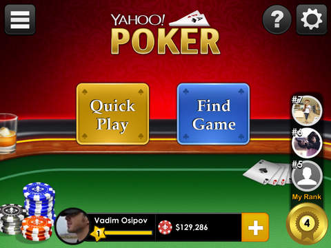 Yahoo Poker – Free, live, multiplayer app screenshot 4