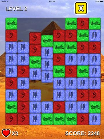 The Stones Of Pyramids - Matching game screenshot 1
