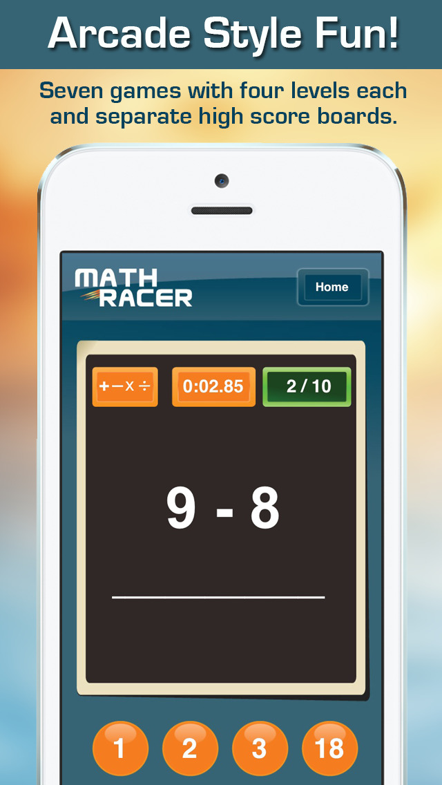 Math Racer 3.0 - Addition, Subtraction, Multiplication and Division Tables Speed Game screenshot 2