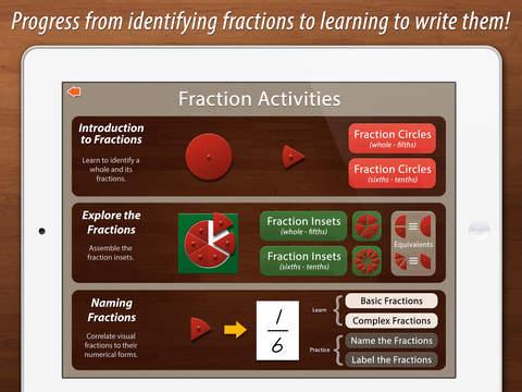 Preschool Fractions - Montessori Math for Kids screenshot 1