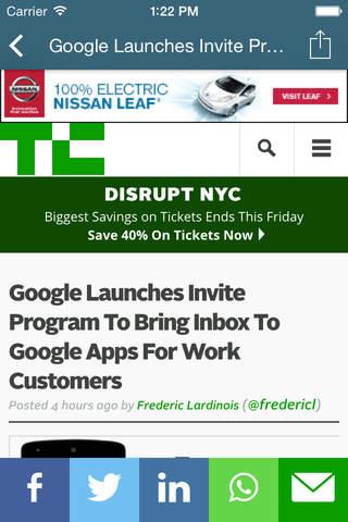 TM Reader - Read Techmeme on Mobile - náhled
