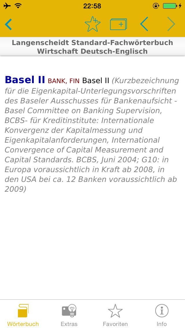 Wirtschaft Englisch<->Deutsch Fachwörterbuch Standard screenshot 4