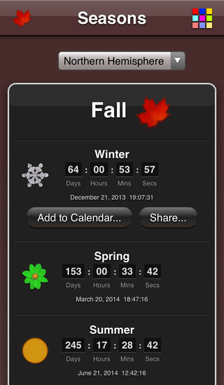 Seasons App screenshot 3
