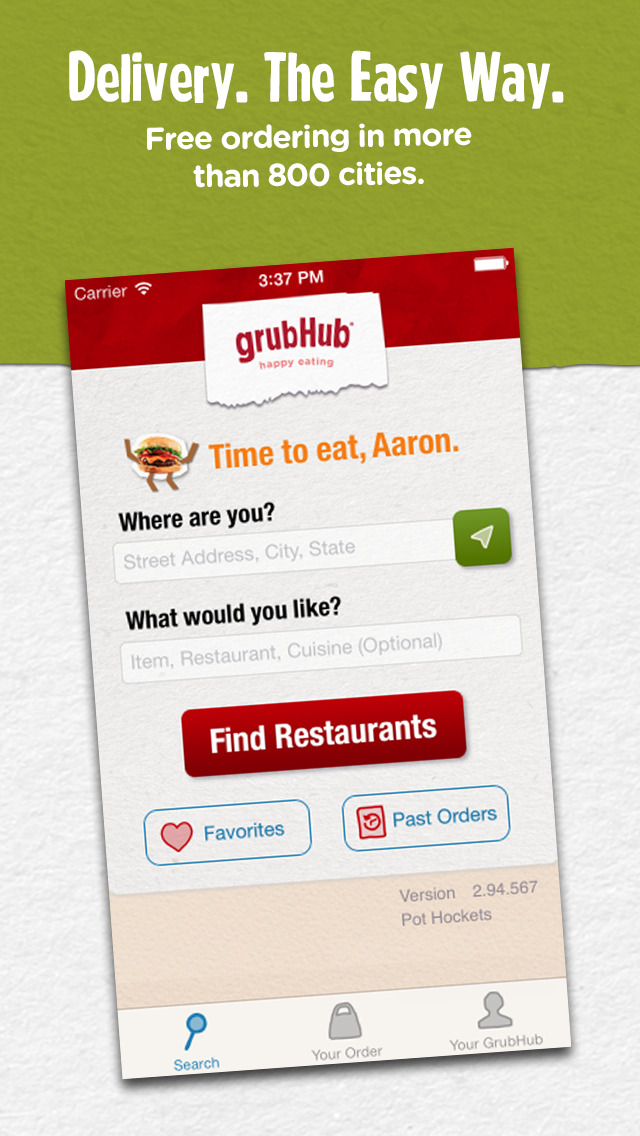 Grubhub: Local Food Delivery screenshot 1