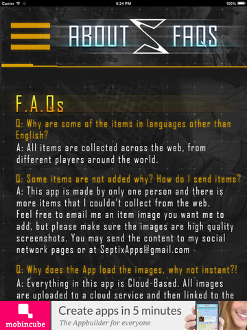 AW for CoD - Items Database screenshot 8