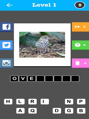 Bird Trivia - Word Quiz Game screenshot 7