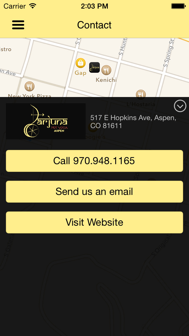 Arjuna Yoga Aspen screenshot #4