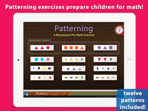 Patterning - A Montessori Pre-Math Exercise screenshot 1