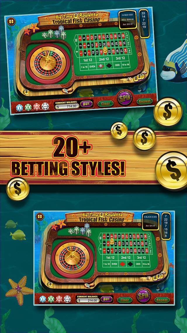 Roulette of Tropical Fish Casino 777 (Win Big) screenshot 4