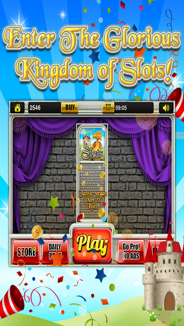 Aces Classic Fantasy Slots - King's Castle Gambling Jackpot Slot Machine Games HD screenshot 5