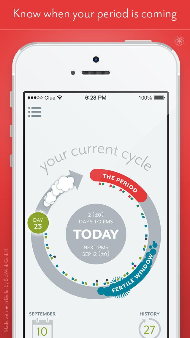 Clue Period & Cycle Tracker screenshot 1