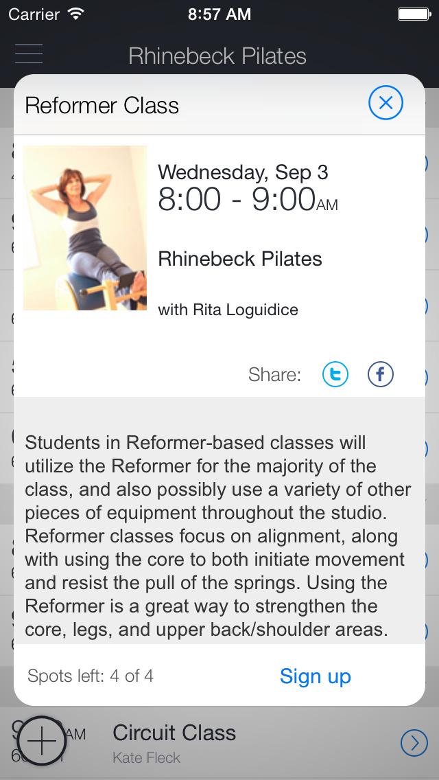 Rhinebeck Pilates screenshot 2