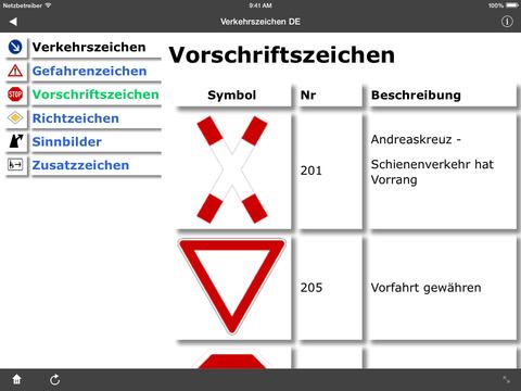 Verkehrszeichen DE screenshot 8