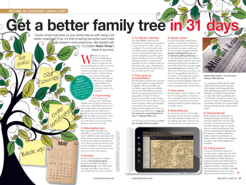 Family Tree Magazine. screenshot 4