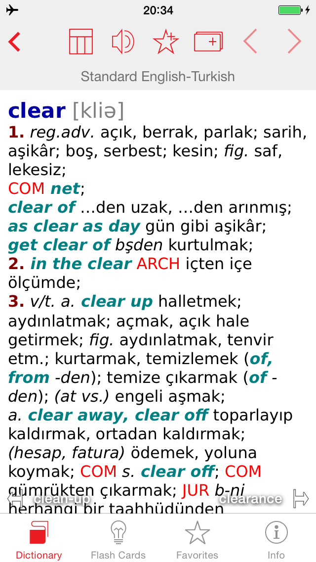 Turkish - English Berlitz Standard Dictionary screenshot 1