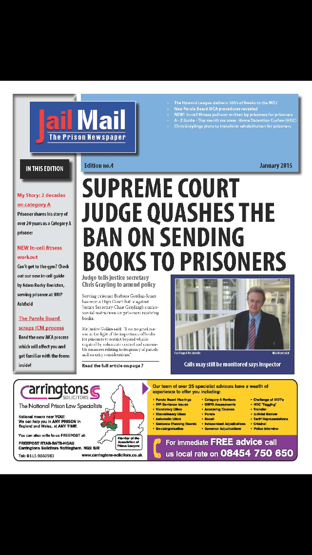 Jail Mail UK – Prison Newspaper screenshot 1
