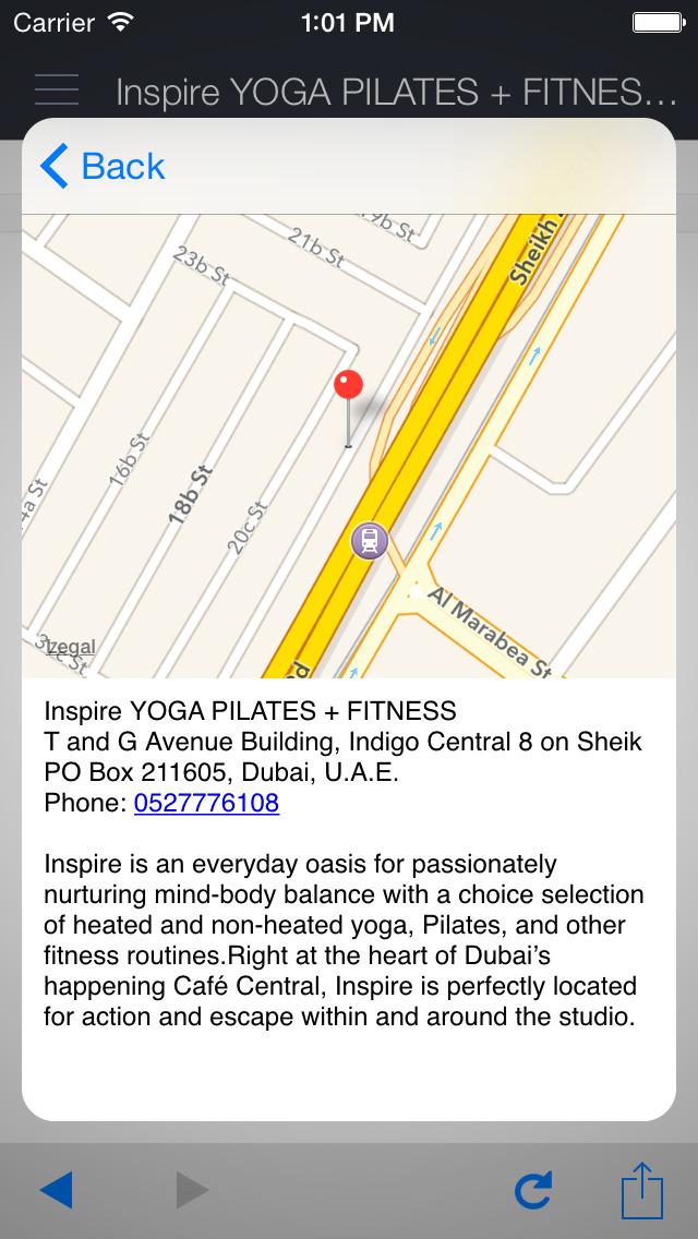 Inspire Yoga+Pilates+Fitness screenshot 3