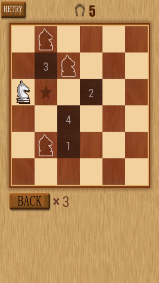Horse Riding Board -- Knight Move to All Over The Chessboard screenshot 4