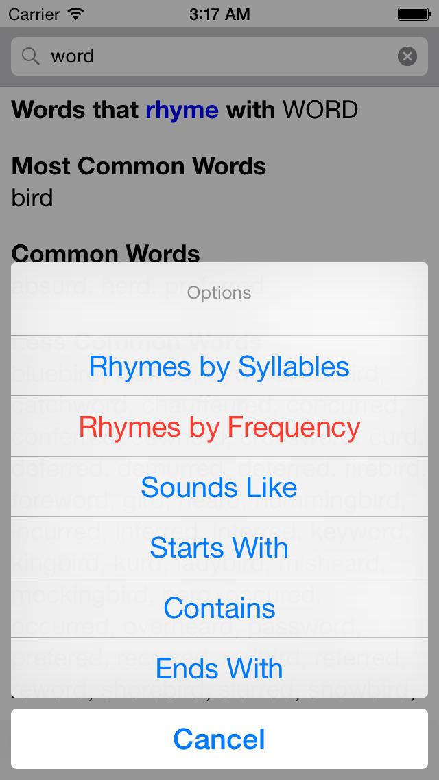 RhymeNow screenshot 2