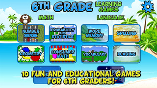 Sixth Grade Learning Games screenshot 1