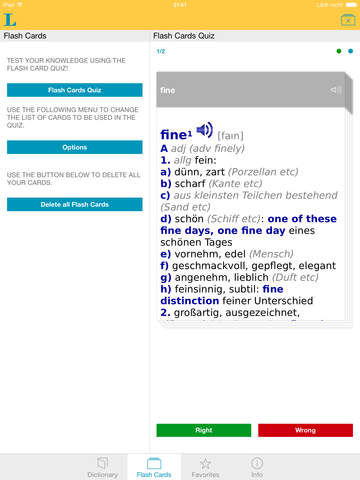 German English XXL Dictionary screenshot 8