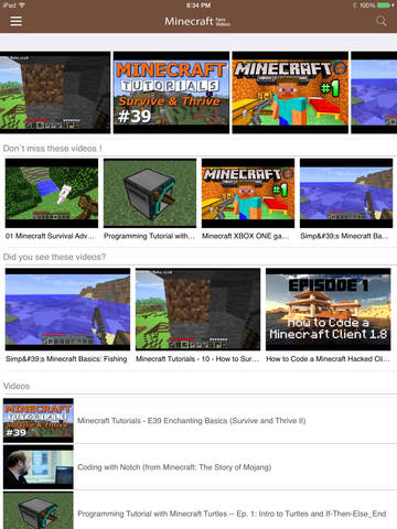 Fans Videos for Minecraft screenshot 2