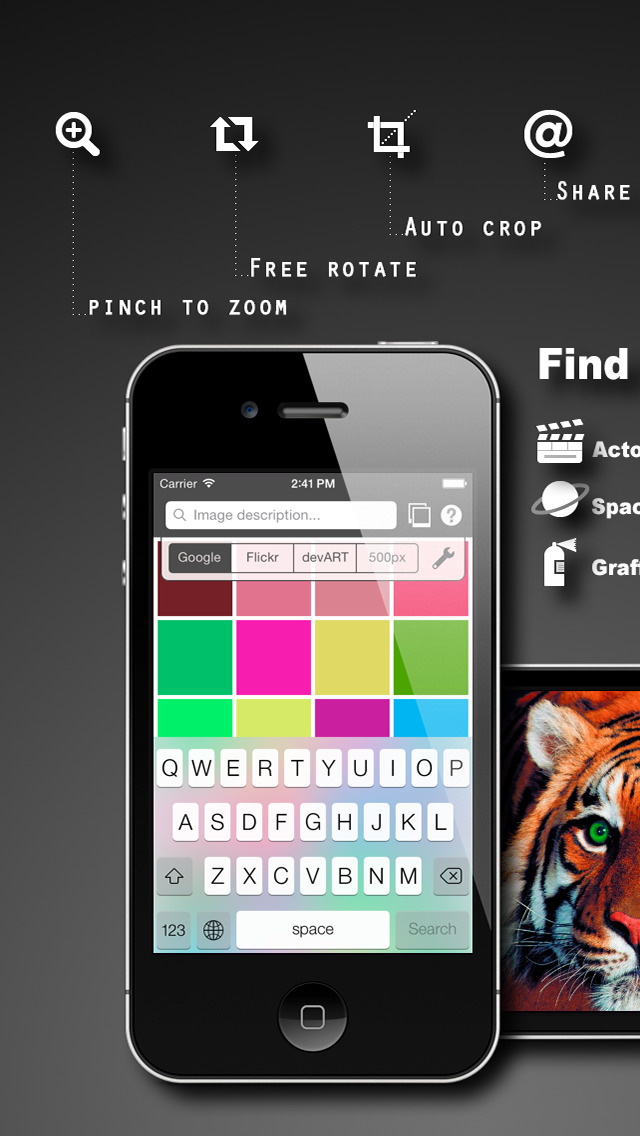 PatchWall - find pictures / create wallpapers / print on anything! screenshot 3