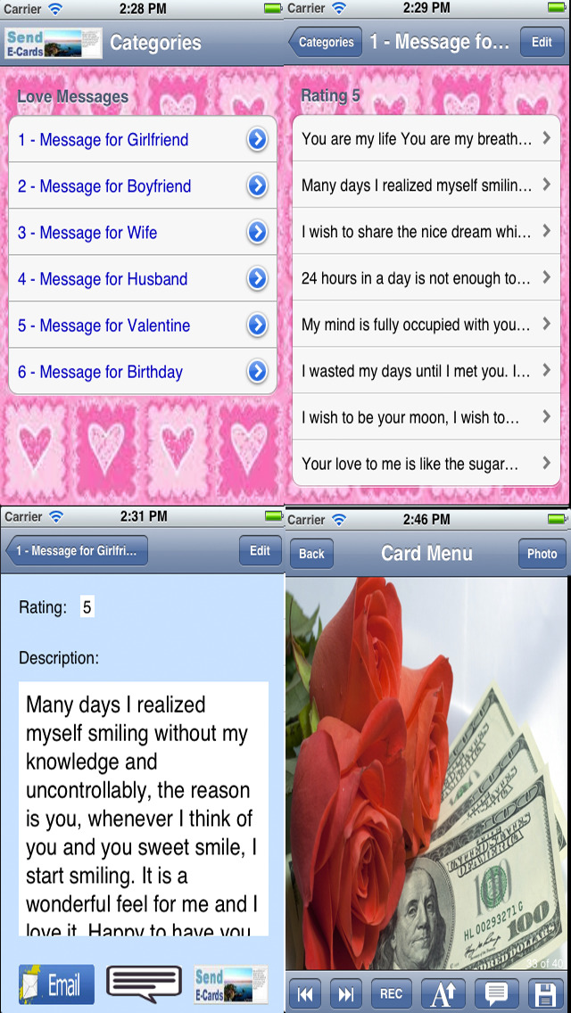 Flowers Love Cards screenshot 5