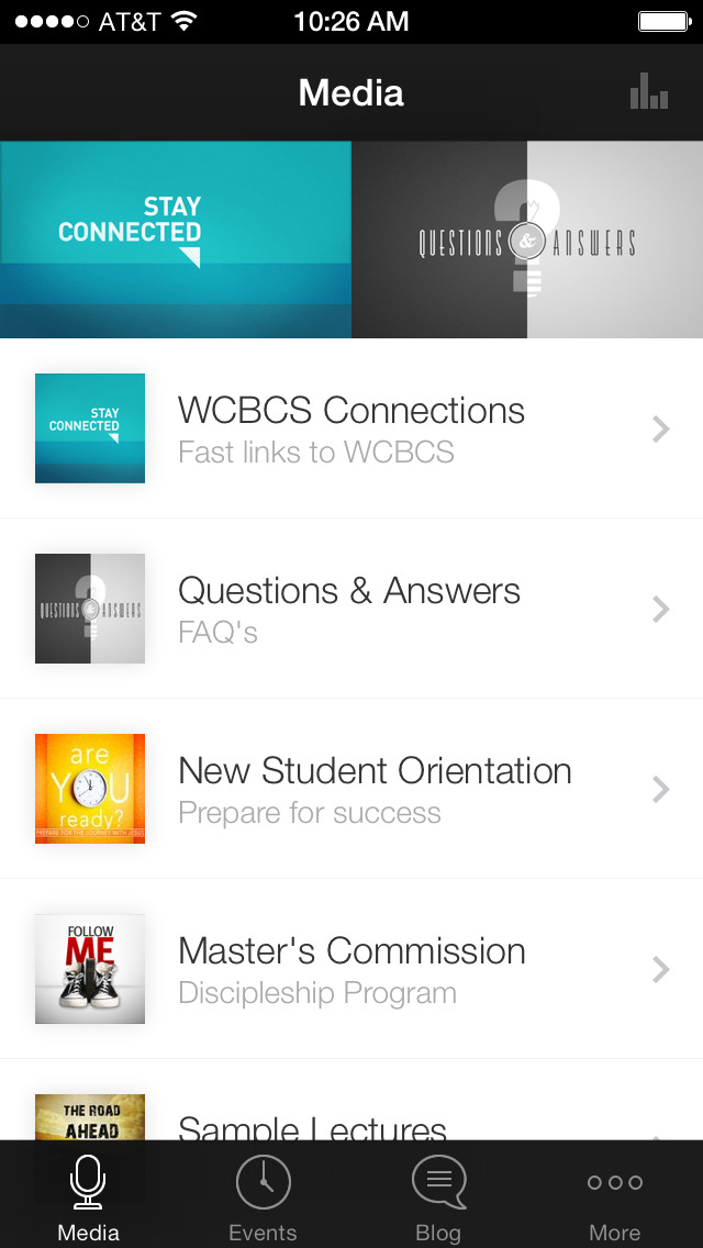WCBCS App screenshot 1