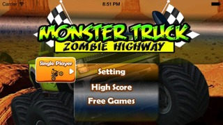 Monster Truck Zomble Highway Pro : The Experience Of The Truck Transformer screenshot 1