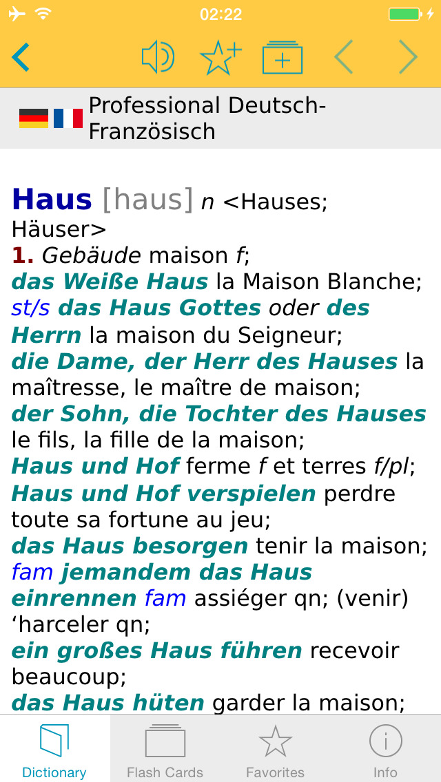 German French XL Dictionary screenshot 1