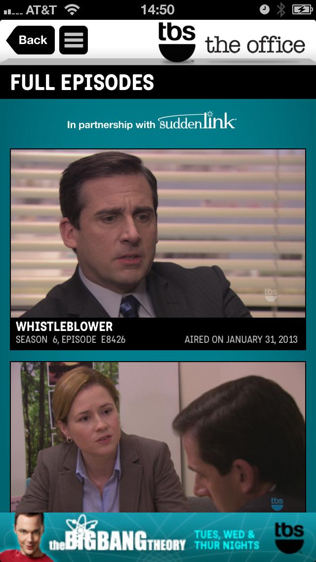 WATCH TBS for iPhone screenshot 5