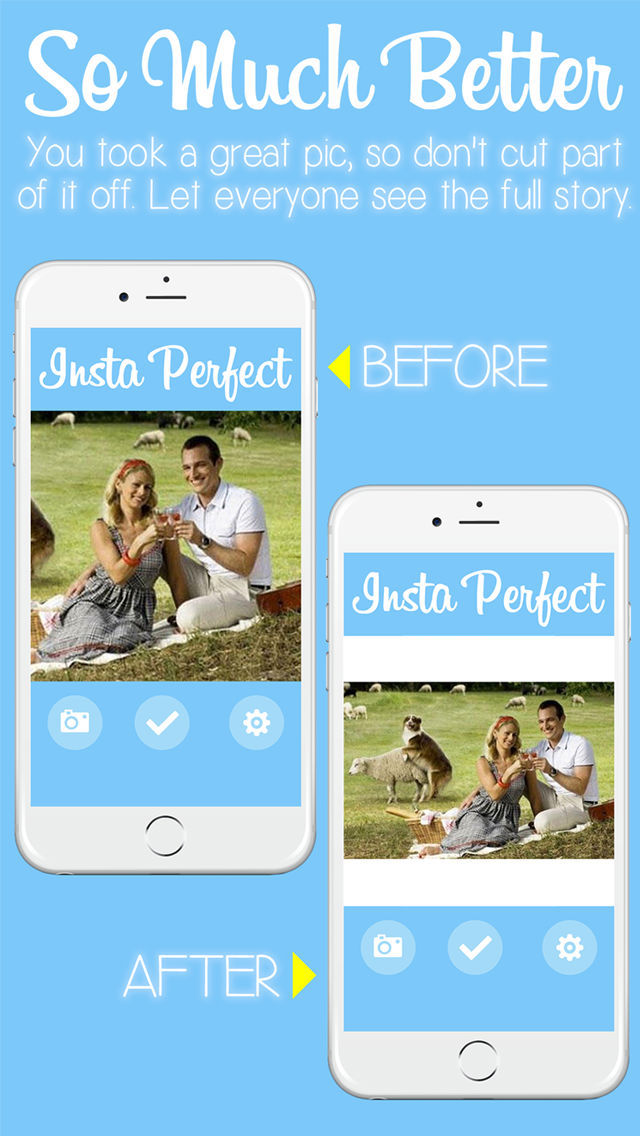 Insta Perfect - Resize Photos to Fit a Square in Instagram Without Cropping screenshot 1