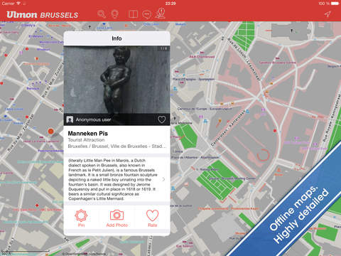 Brussels Travel Guide and Offline City Map screenshot 7