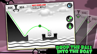 Drop the Ball into the Boat - free brain mini game screenshot 1