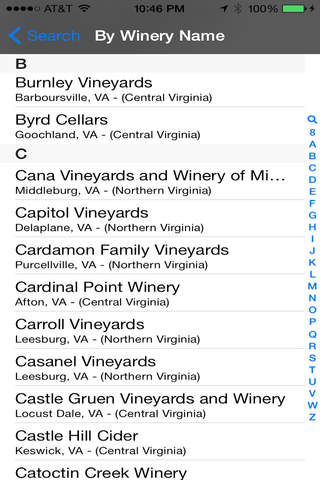 Virginia Winery Finder - náhled