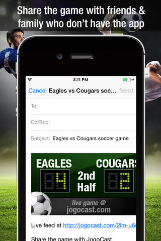 JogoCast Real-time Soccer Scoreboard - náhled