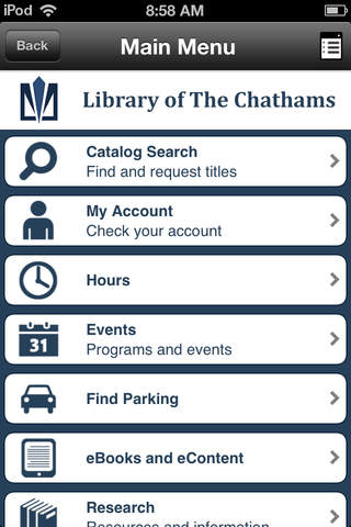 Library of The Chathams - náhled