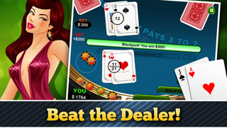 Lucky Black Jack Casino Card Shark Win Master Free screenshot 3