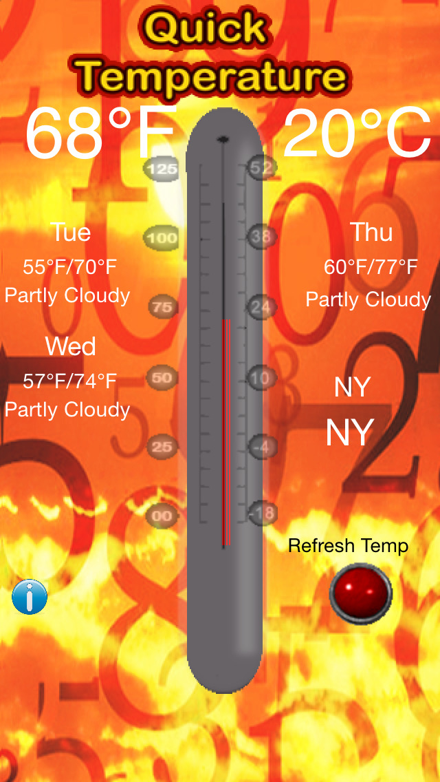 Quick Temperature - The Free Thermometer screenshot 2