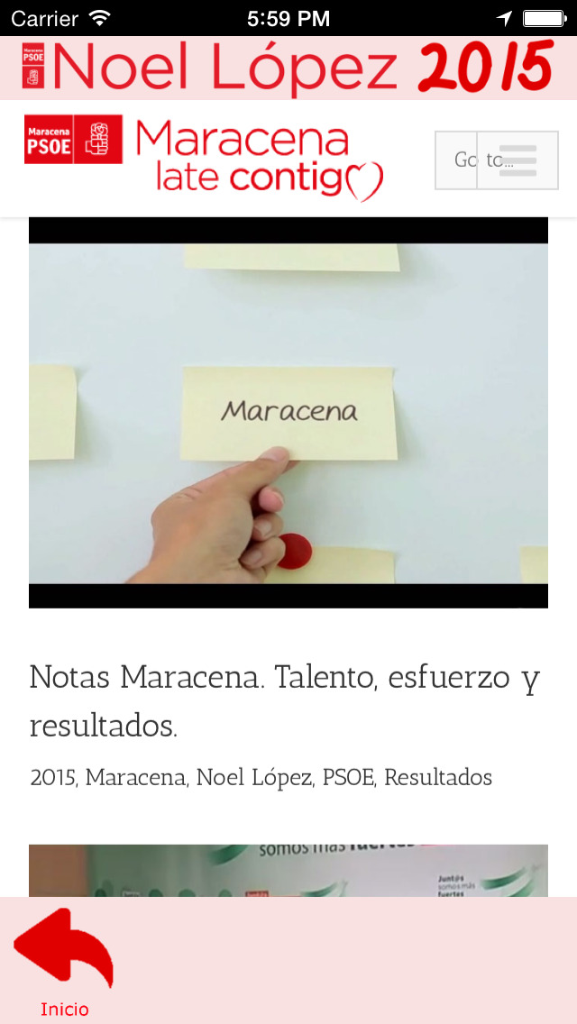 Noel2015 - Noel López - candidatura del Partido Socialista a la alcaldía de Maracena (Granada, España) screenshot 3