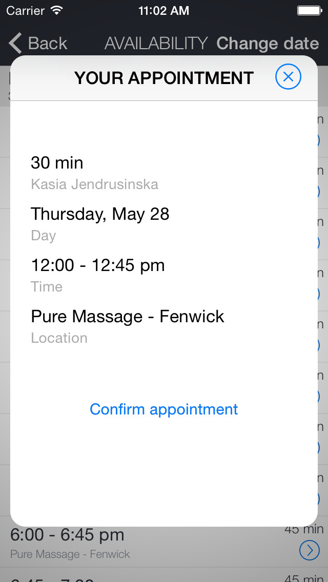 Pure Massage screenshot 2