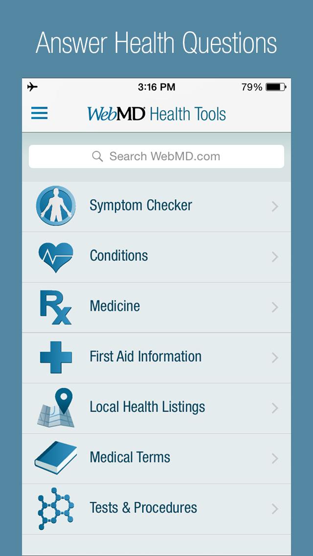 WebMD: Symptoms, Doctors, & Rx screenshot 2