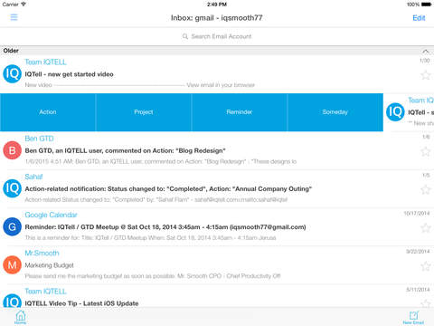 IQTell, Email + Task Management in One Place GTD® screenshot 7