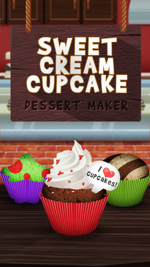 Awesome Sweet Cream Cupcake Dessert Maker screenshot 1