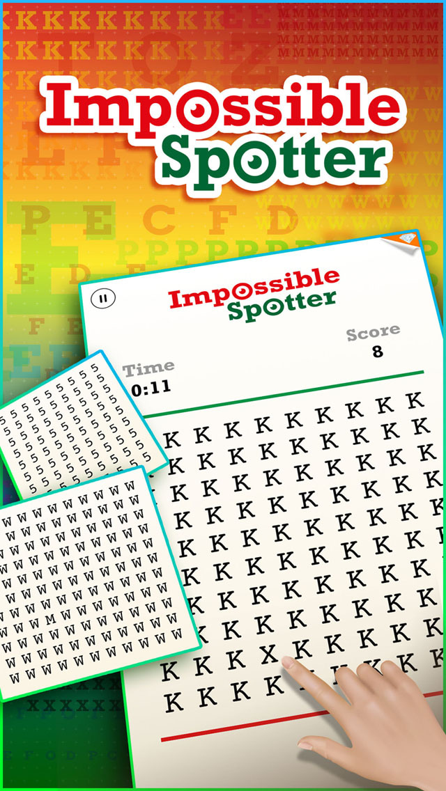 The Impossible Letter Spotter ~ spot the color shade & more addicting games screenshot 1