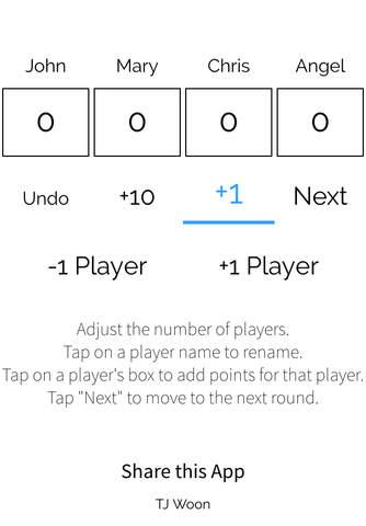 ScoreKeeper by TJ Woon - náhled