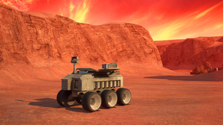 3D Mars Parking - Red Planet Space Moon Mission Rover Vehicles Simulator Driving Games screenshot 1