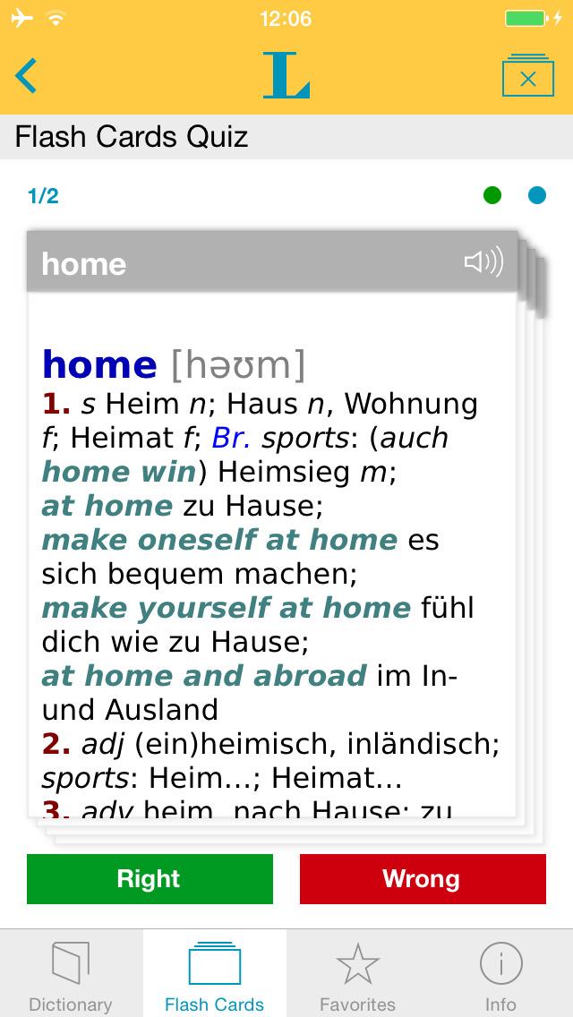 German <-> English Talking Dictionary Basic screenshot 3