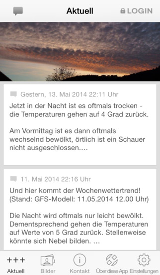 Wetter Odenbach screenshot 1